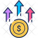 Coins Growth Profit Icon