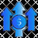 Arrow Finance Money Icon