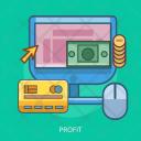 Profit Money Computer Icon