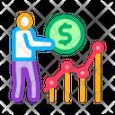 Man Earn Money Icon