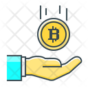 Bitcoin Cryptocurrency Hand Icon