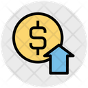 Business Profit Dollar Coin Icon