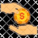 Profit Money Hands Icon
