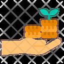 Profit Money Hand Icon
