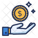 Profit Hand Coin Icon