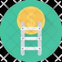 Achievement Ladder Dollar Icon
