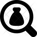 Profit Sack Magnifier Icon