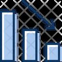 Dashboardv Profit Decrease Goes Down Icon