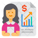 Profit Growth Stat Report Icon