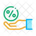 Business Percentage Hand Icon