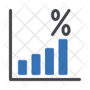 Profit Percentage Growth Graph Financial Growth Icon
