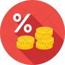 Percentage Coins Share Icon