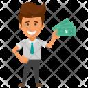 Dollars Earnings Employee Icon