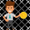Profitable Businessman Icon