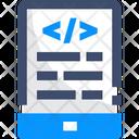 Program Coading File Development Icon