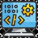 Programing Coding Monitor Icon