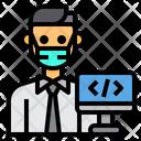 Programmer Coding Man Icon