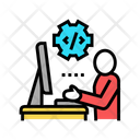 Programmer Coding Development Icon
