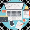 Program Coding Web Icon