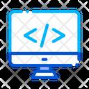Coding Computer Monitor Icon