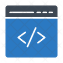 Programming Webpage Coding Icon