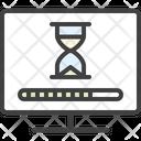 Monitor Hourglass Wait Icon