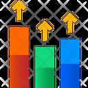 Progress Report Growth Graph Analytics Icon