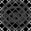 Prohibited Prohibit No Violence Icon
