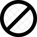 Restriction Not Allowed Icon