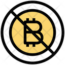Prohibited Bitcoin Bitcoin Banned Bitcoin Icon