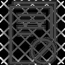Prohibited Document Termination Document Icon