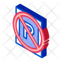 Prohibition Warning Parking Icon