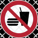 Prohibition Food Burger Icon