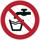 Prohibition Water Icon