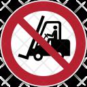 Prohibition Forklift Icon