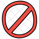 Circle Backslash Backslash Symbol Prohibition Sign Icon
