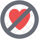 Prohibition sign heart Icon