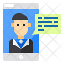 Business Man User Smartphone Icon