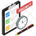 Workflow Progress Business Process Project Brief Icon
