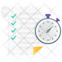 Project Deadline Project Timeline Work Schedule Icon