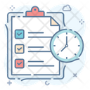 Task Time Project Time Agenda Icon