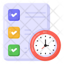 Project Deadline Project Plan Project Schedule Icon