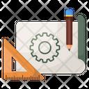 Project Design Project Plan Blueprint Icon