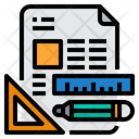 Stationery Office Supplies Planning Icon