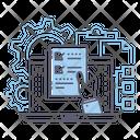 Button Project Development Check List Icon