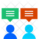 Project Discussion Conversation Communication Icon