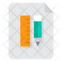 Document Ruler Pencil Icon
