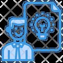 Businessman Creative Idea Icon