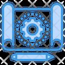 Graphic Design Sketch Gear Icon