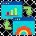 Website Graph Gear Icon